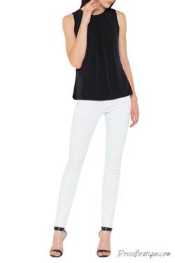 Black Stretch Sleeveless Top
