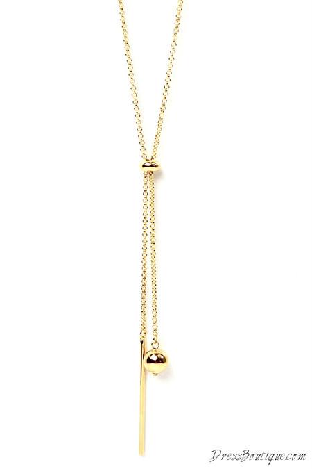 Gold Bead Pendant