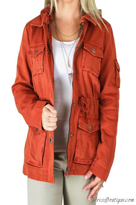 Vintage Orange Womens Jacket