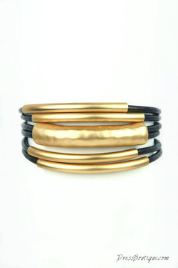Leather Layered Bracelet