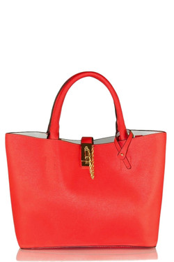Women's Chic Red Satchel