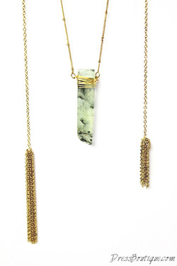 Natural Green Stone Necklace