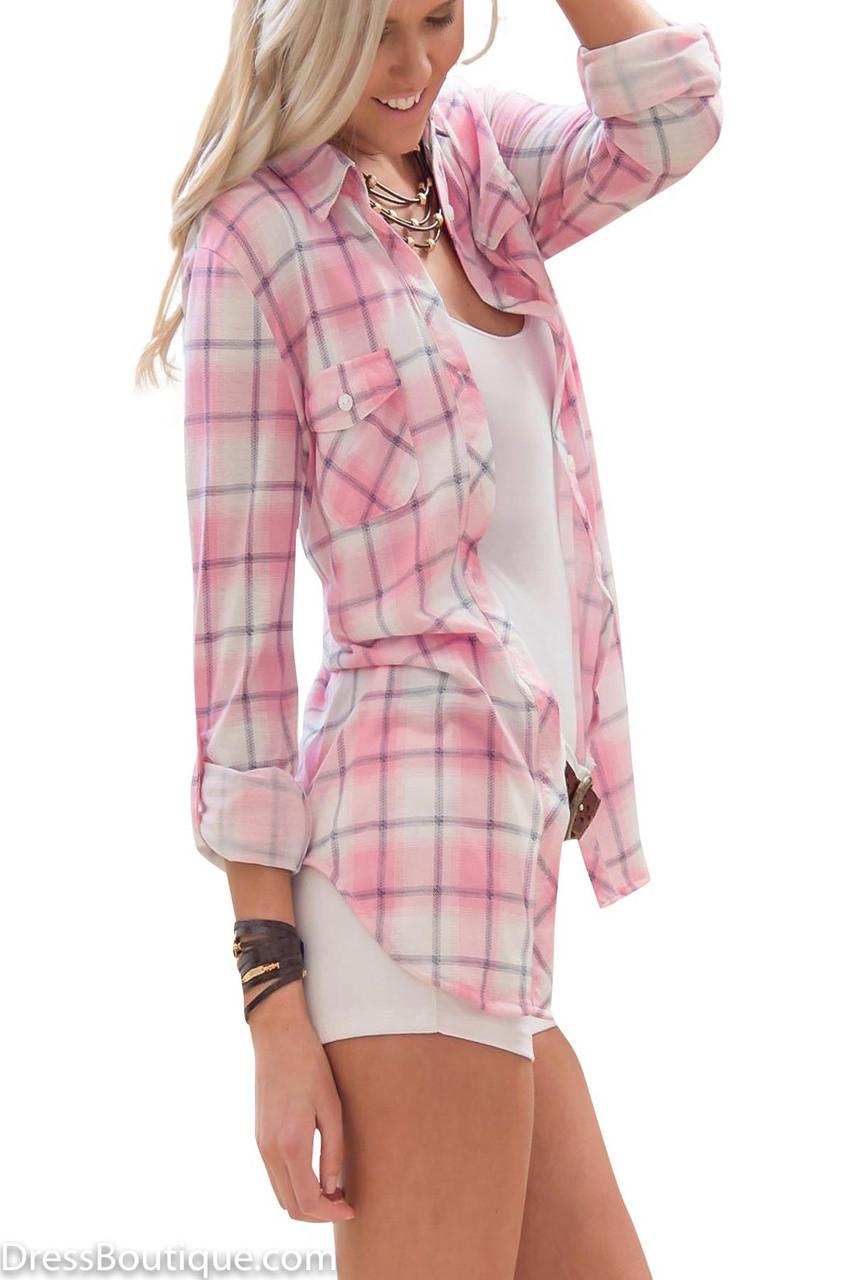 Pink Plaid Shirt Shop Women Quot S Shirts