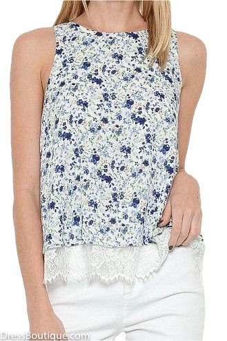 Layered Floral Top