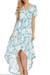 Blue Floral Short Sleeve Dress