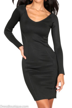 Black Sleeved Bodycon Dress