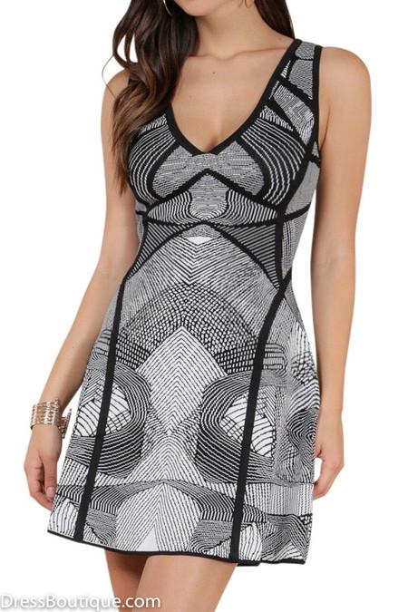 Scoop Neck Fit & Flare Dress