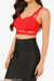 Red Cage Bandage Crop Top