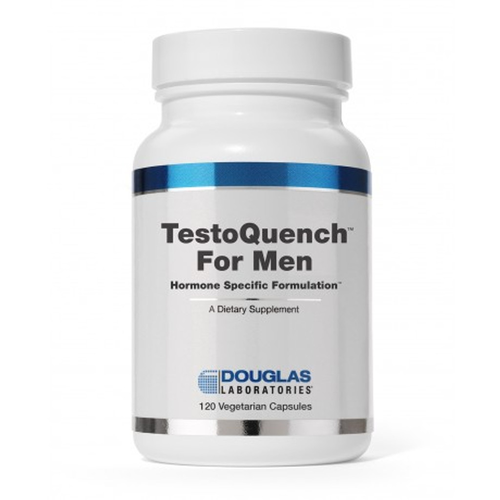 TestoQuench™ for Men decreases production of testosterone and conversion of testosterone to the more androgenic dihydrotestosterone, and protects the prostate.