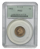 1862 P Indian Head Penny Proof, OGH, 1C PR62 PCGS