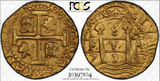 1712 8 Escudos Cob from Nieves de Animas 1715 Fleet Shipwreck ~ PCGS AU Details