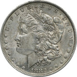 1882 O/S Morgan Silver Dollar VAM 4 Top 100 AU $1 About Uncirculated