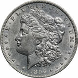 1896 O Morgan Silver Dollar AU $1 About Uncirculated