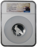 2016 -P Australia $8 Wedge-Tailed Eagle 5oz Silver High Relief, Mercanti Signed . PF70 NGC UCAM