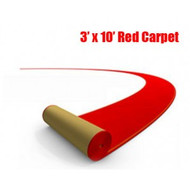 3' x 10' Red Carpet