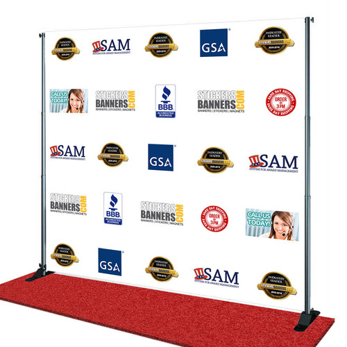 Big Sale Custom Step And Repeat Banner & Stand Same Day Ship
