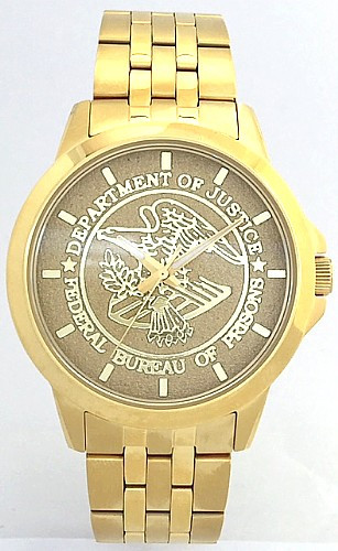 Federal Bureau of Prisons Watch Gold Dial