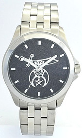All Stainless Shriner Watch Black dial