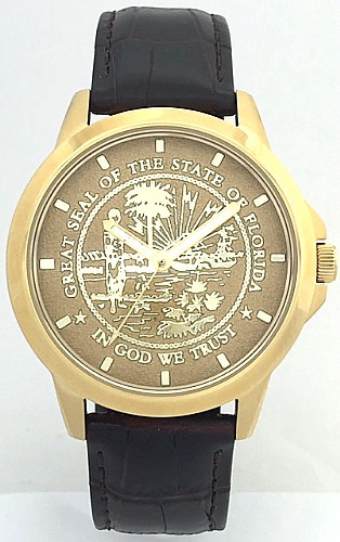 State of Florida State Seal Watch Gold Dial