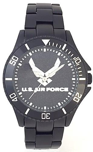 US Air Force Watch Black Aluminum Black Medallion Dial