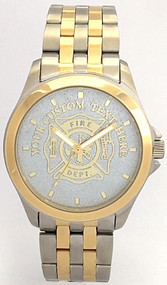 Gents' Maltese Cross Firefighter Watch Silver Dial