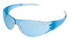 Crews CK2 Safety Glasses with Blue Temples and Light Blue Lens
