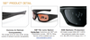 ESS 5B Ballistic Sunglasses with Black Frame and Mirror Lenses
