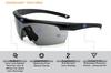 ESS Crosshair Eyeshield with Black Frame and Smoke Gray Lens