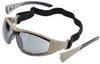 Elvex Go-Specs II Safety Glasses/Goggles with Desert Camo Frame, Foam Seal and Gray Anti-Fog Lens