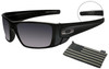 Oakley SI Fuel Cell with Matte Black Frame, Steel Flag Logo and Black Iridium Lenses