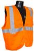 Radians SV2Z-Mesh Class 2 Hi-Viz Orange Safety Vest with Zipper Closure