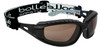 Bolle Tracker Safety Glasses with Black Frame and Twilight Anti-Scratch and Anti-Fog Lenses