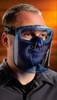 Bolle Blue Visor Shield for Atom Goggle Worn