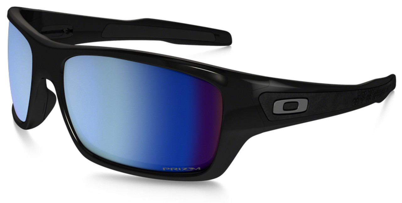 eebbc69842 ... oakley turbine sunglasses with polished black frame and prizm deep water  polarized lens