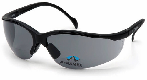 Pyramex V2 Reader Bifocal Safety Glasses with Gray Lens