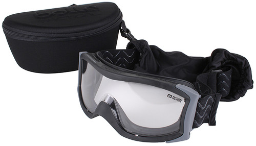 Bolle X1000 Tactical Safety Goggles with Black Frame and Clear Anti-Fog and Anti-Scratch Lens
