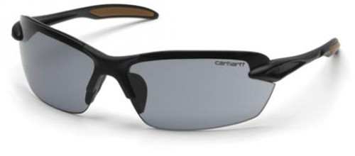 Carhartt Spokane Safety Glasses with Black Frame and Gray Lens