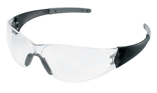 Crews CK2 Safety Glasses with Smoke Temples and Clear Anti-Fog Lens