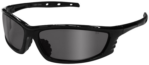 Radians Chaos Safety Glasses with Black Frame and Silver Mirror Lens