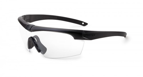 ESS Crosshair Eyeshield with Black Frame and Clear Lens