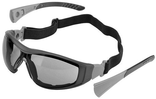 Elvex Go-Specs II Safety Glasses/Goggles with Black Frame, Foam Seal and Gray Anti-Fog Lens