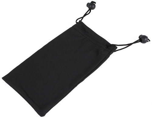Microfiber Sunglasses Pouch with Black Drawstring and Stopper