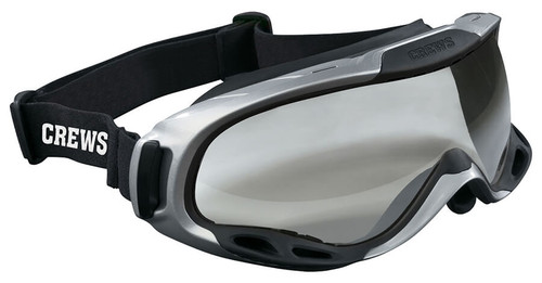 Crews PGX1 Safety Goggle with Elastic Strap and Clear Anti-Fog Lens
