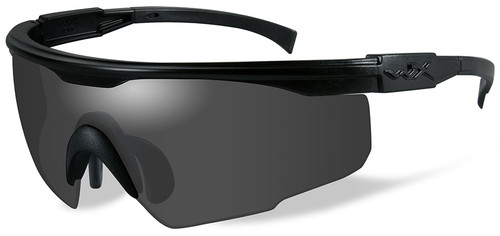 Wiley X PT-1 Ballistic Sunglasses with Black Frame and Smoke Lens