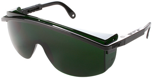 Uvex Astrospec 3000 Safety Glasses with Black Frame/Spatula Temples and Shade 5.0 Infra-dura UD Lens