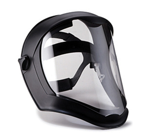 Uvex Bionic Shield with Matte Black Frame and Clear Anti-Fog Shield