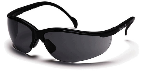 Pyramex Venture 2 Safety Glasses with Black Frame and Gray Anti-Fog Lens