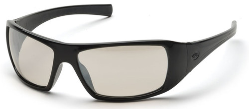 Pyramex Goliath Safety Glasses with Black Frame and Indoor/Outdoor Lens