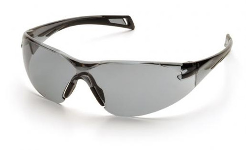 Pyramex PMXSlim Safety Glasses with Black Temples and Gray Lens