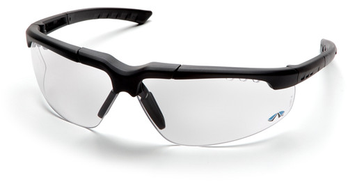 Pyramex Reatta Safety Glasses with Charcoal Frame and Clear Anti-Fog Lens